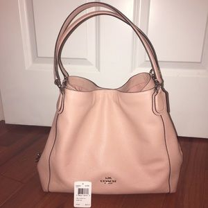 Coach Edie Shoulder Bag Pink/Silver
